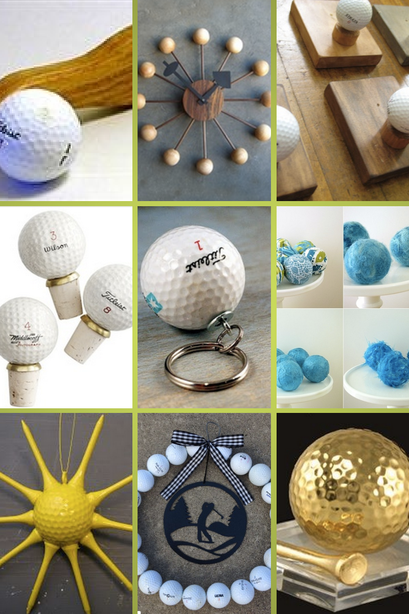 Golf Girl's Diary has found some great ideas for recycling golf balls - Creative Crafters Give New Life to Old Abandoned Golf Balls