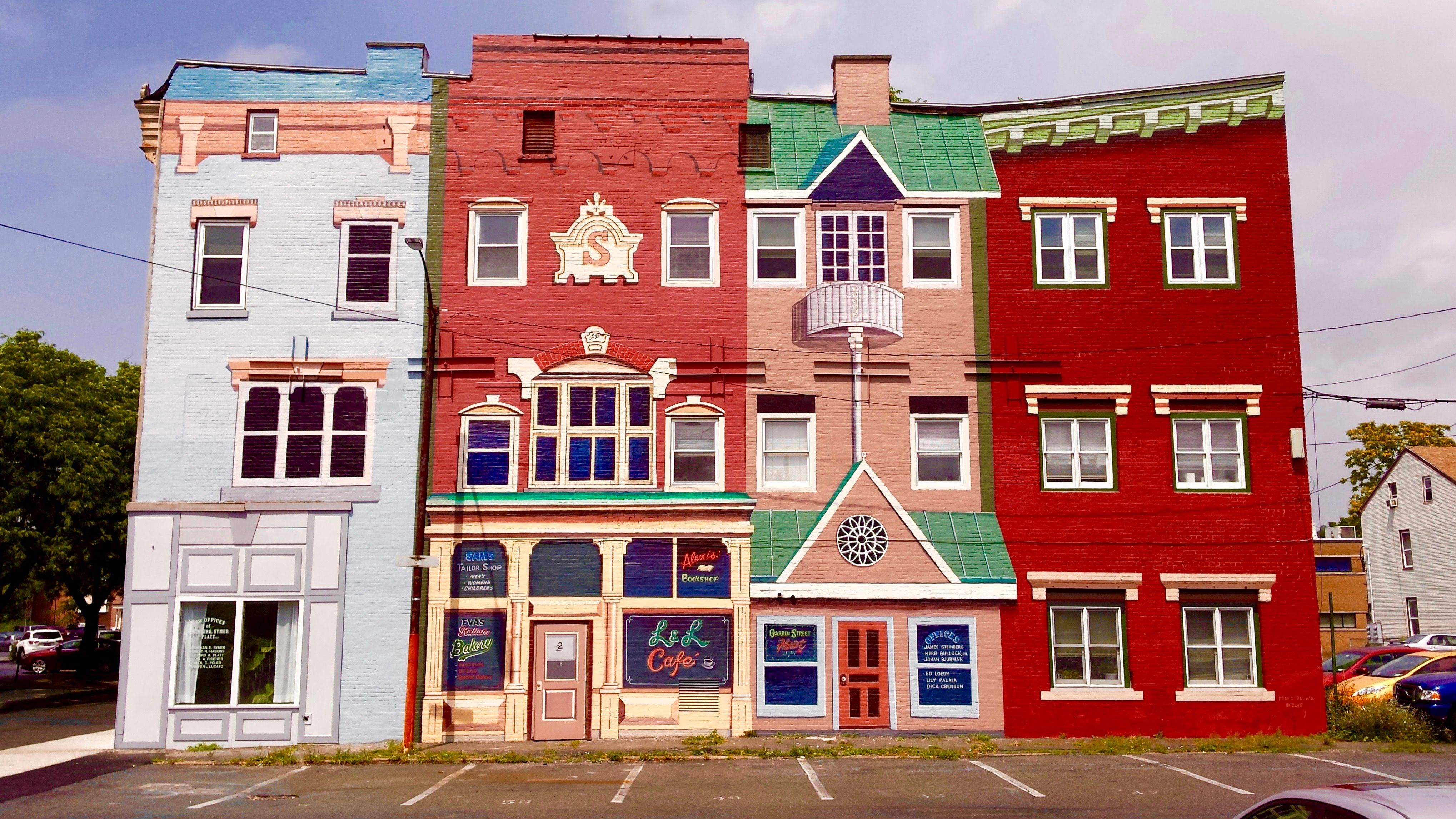 Poughkeepsie Ny House Styles Fall Travel Mural