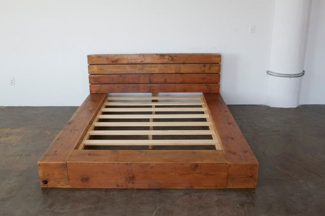 lit poutre de bois structure de base lit pinterest pallets platform beds and bedrooms. Black Bedroom Furniture Sets. Home Design Ideas