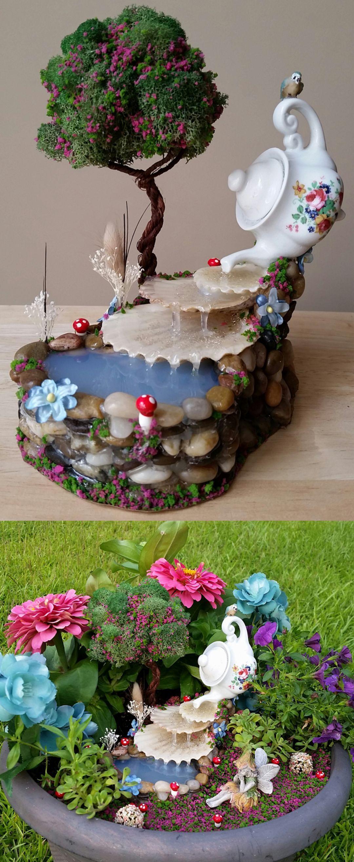 Magical Beautiful Fairy Garden Ideas 242 | Fairy garden ...