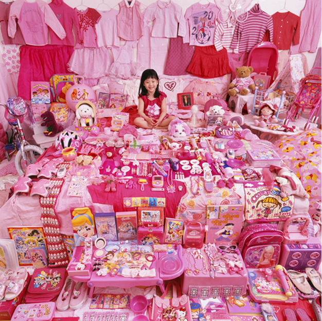 JeongMee Yoon, Jiwoo and her pink things from series The Pink & Blue Project, 2007