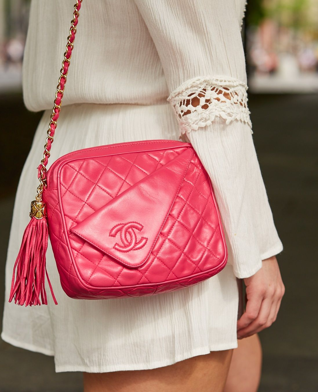5a9ee694a126 Chanel Camera Bag in hot pink | aye Bags and bookpack and etc ...