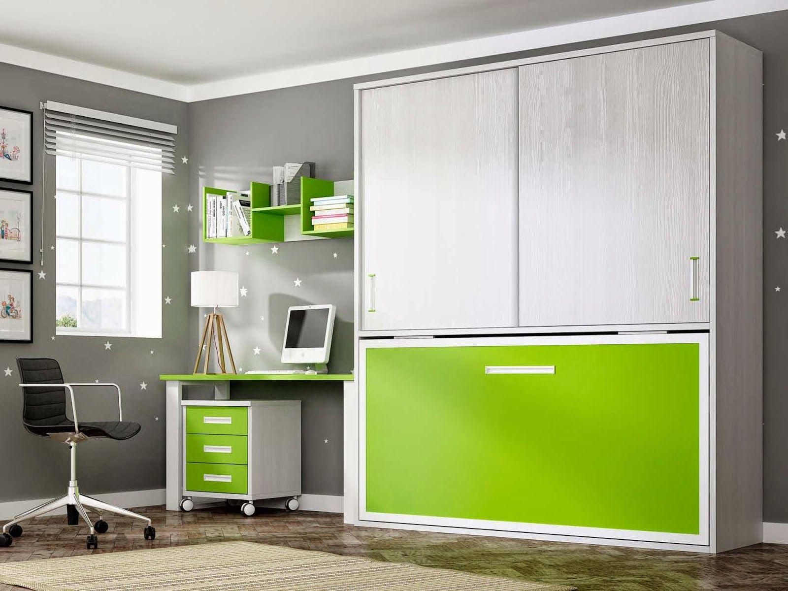 cama abatible horizontal con anticierre y dos puertas. Black Bedroom Furniture Sets. Home Design Ideas