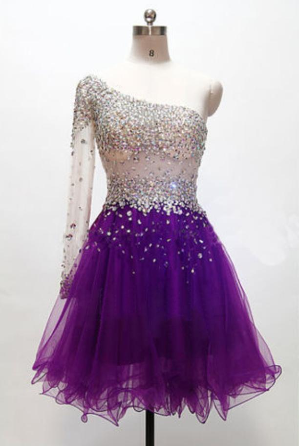 4ae0e500b64 Grape Homecoming Dress
