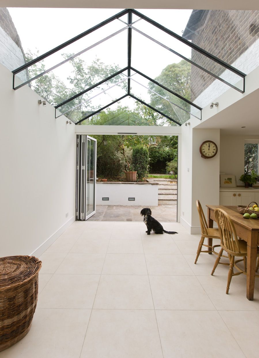 Glass Roof Extension Side Infill Dining Room Extension With A Frameless Glass Roof And