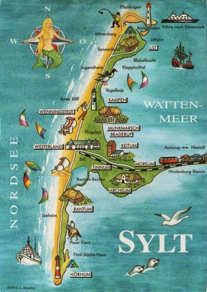 A Postcard A Day Sylt In Germany Hengist Horsa May Have