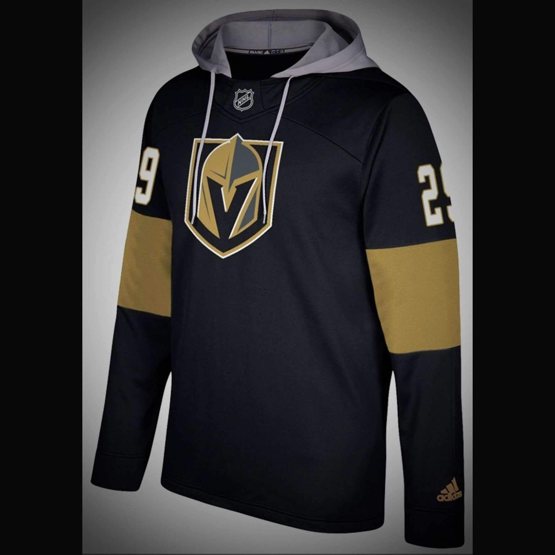 brand new f2f5b 2c708 Vegas Golden Knights Adidas NHL Hockey Jersey Style Hoodie ...