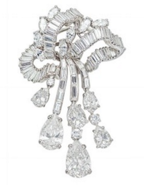 4e3ba07e367 Revival Jewels' Style Suggestion: A diamond brooch by Boucheron, which  features an articulated cascade of diamonds that will immediately draw  attention to a ...