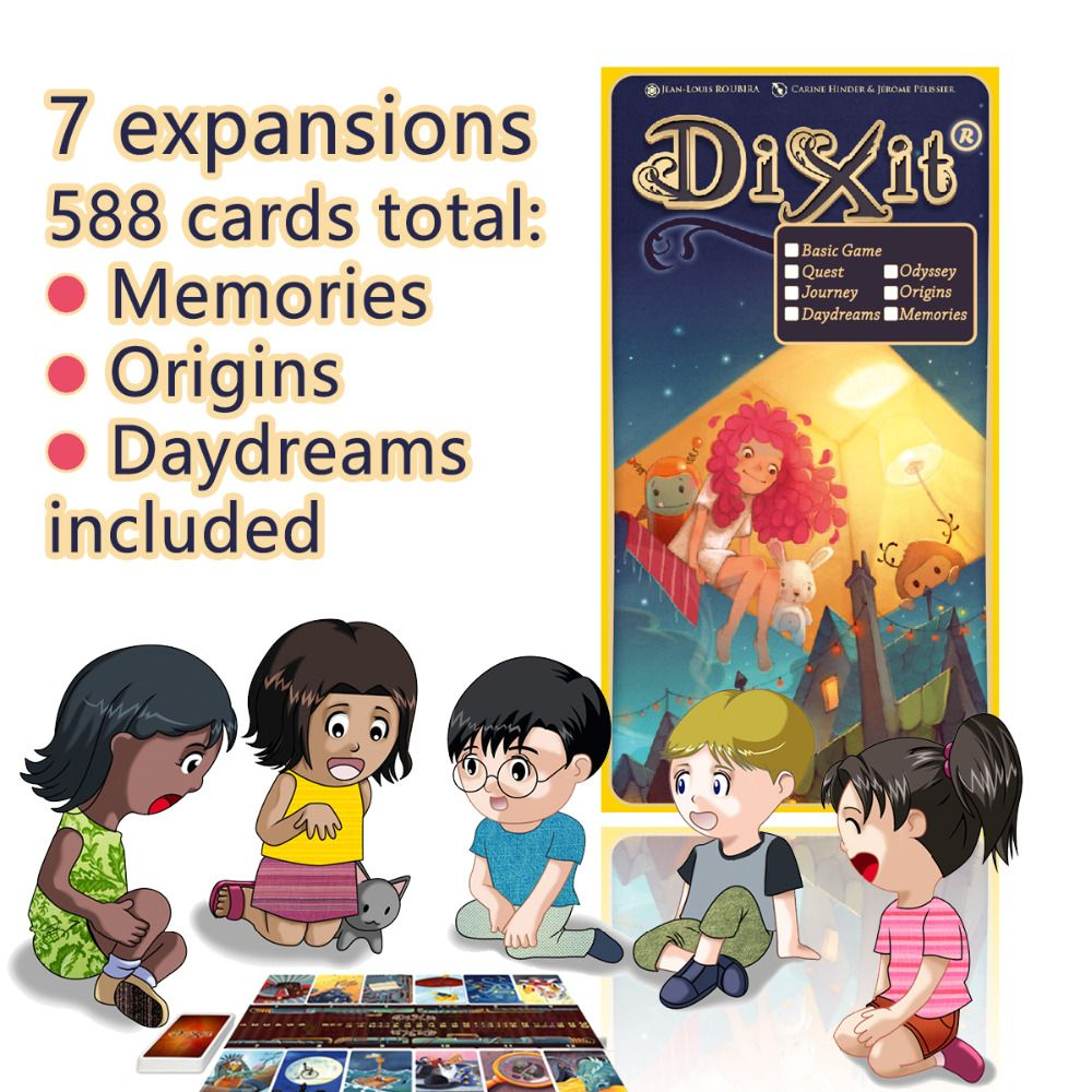 Dixit English Board Game Basic Quest Odassey Origins Journey Daydreams Memories Giftbox Playing Cards Jogo Dixit J Family Board Games Board Games Playing Cards