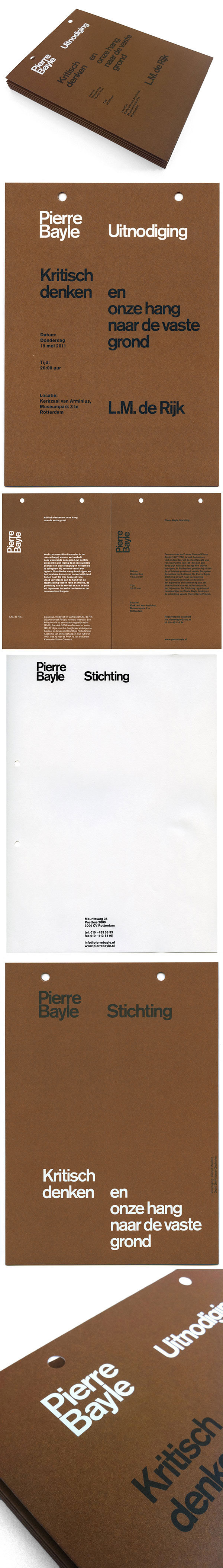 The Pierre Bayle Foundation identity :: http://www.almostmodern.com