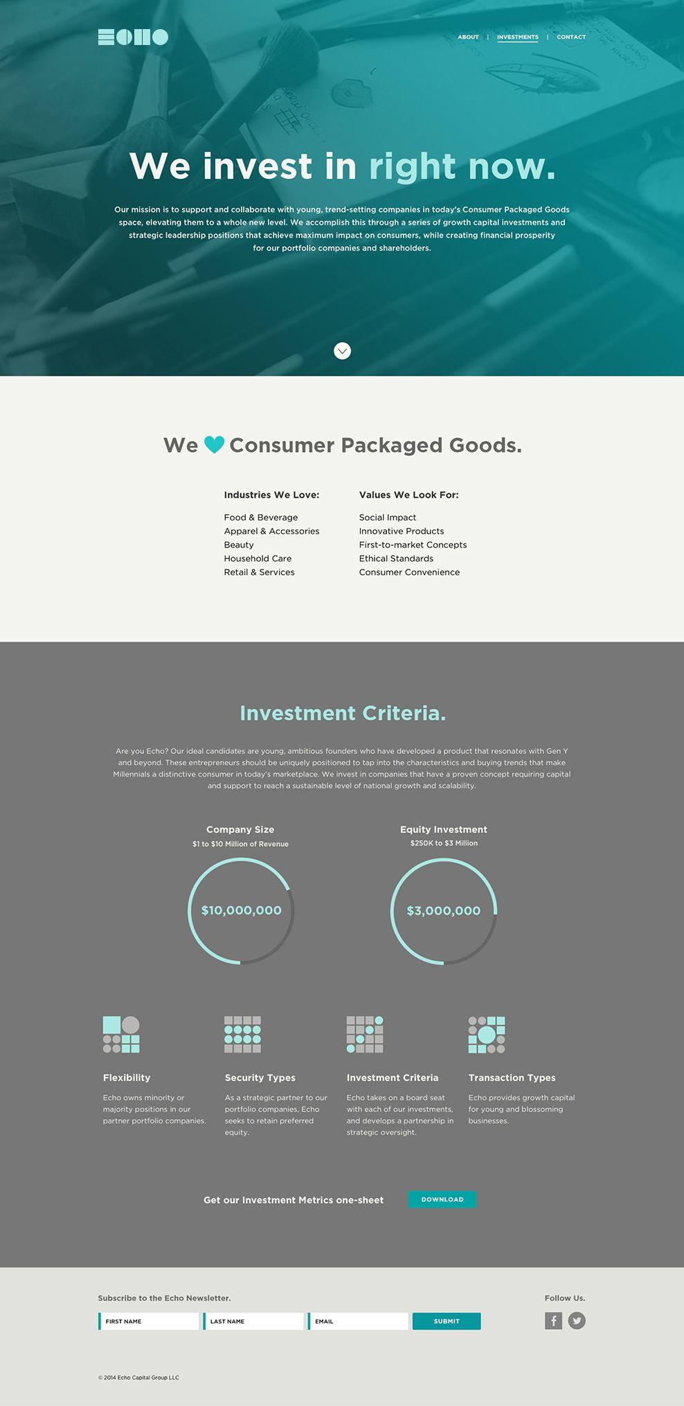 Truf Echo Capital Investments 2 Beautiful Web Design Web Layout Design Website Design