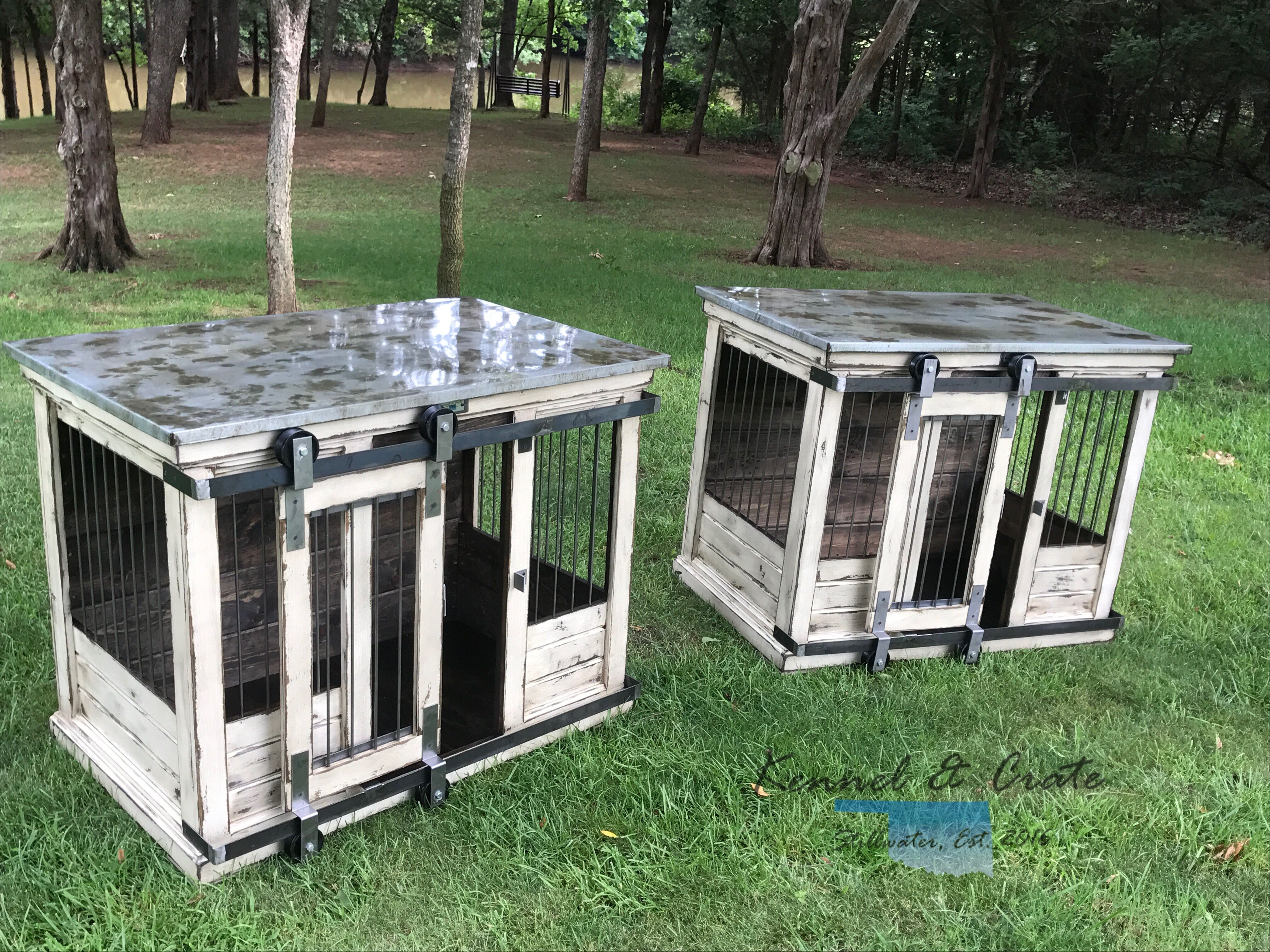Designer Indoor Dog Kennels Replace Your Wire Dog Crate With A Beautiful Piece Of Functional Furniture Gre Dog Kennel Dog Kennel Outdoor Luxury Dog Kennels