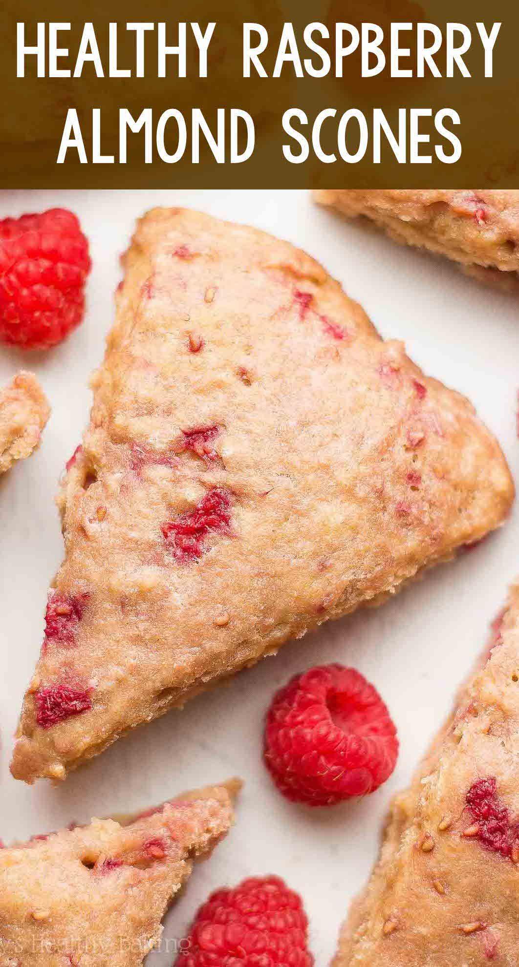 Healthy Raspberry Almond Scones - an easy, one-bowl recipe ...