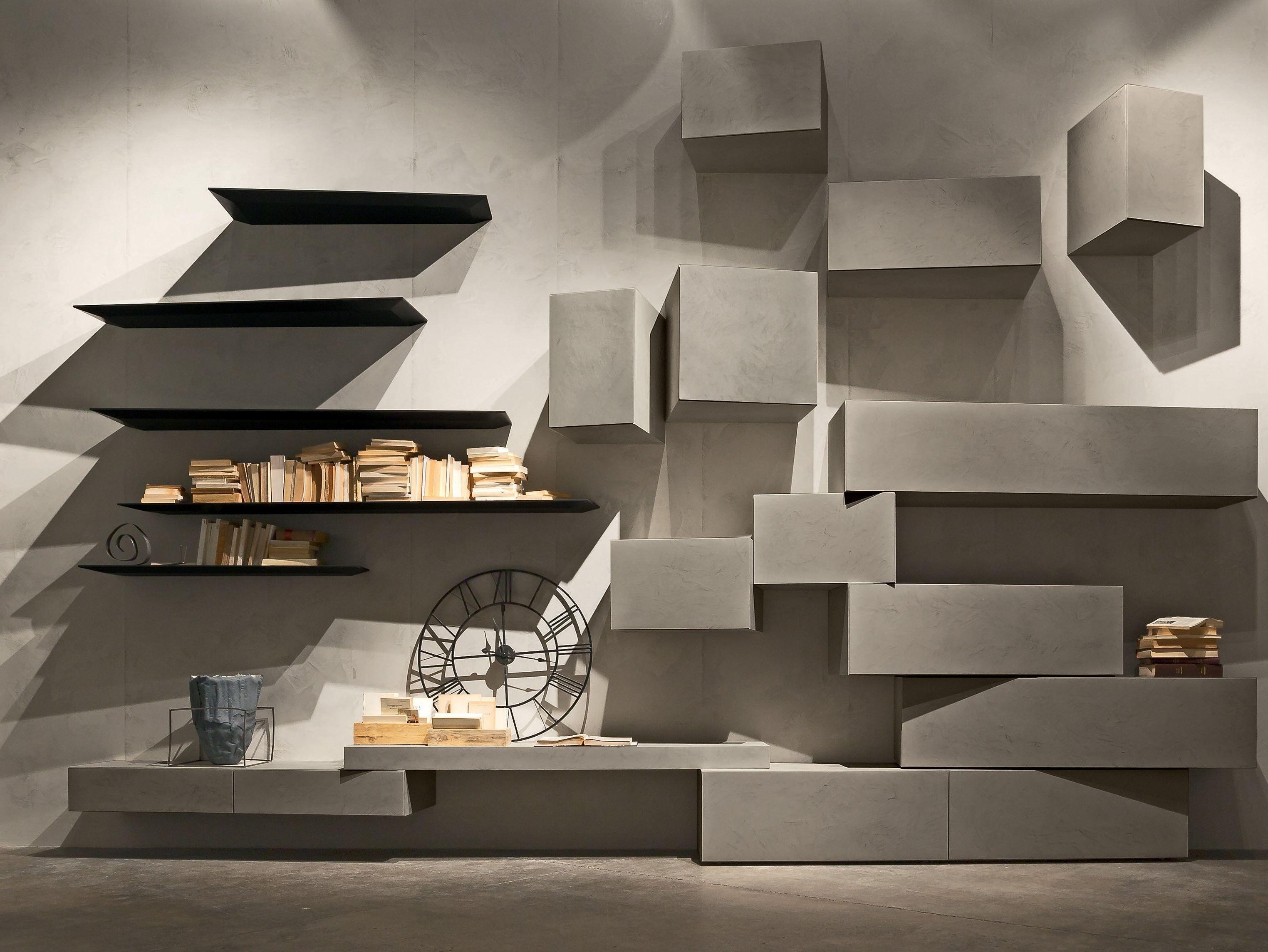 módulo de arrumação de parede secional inclinart ecomalta ... - Mobili Living Design