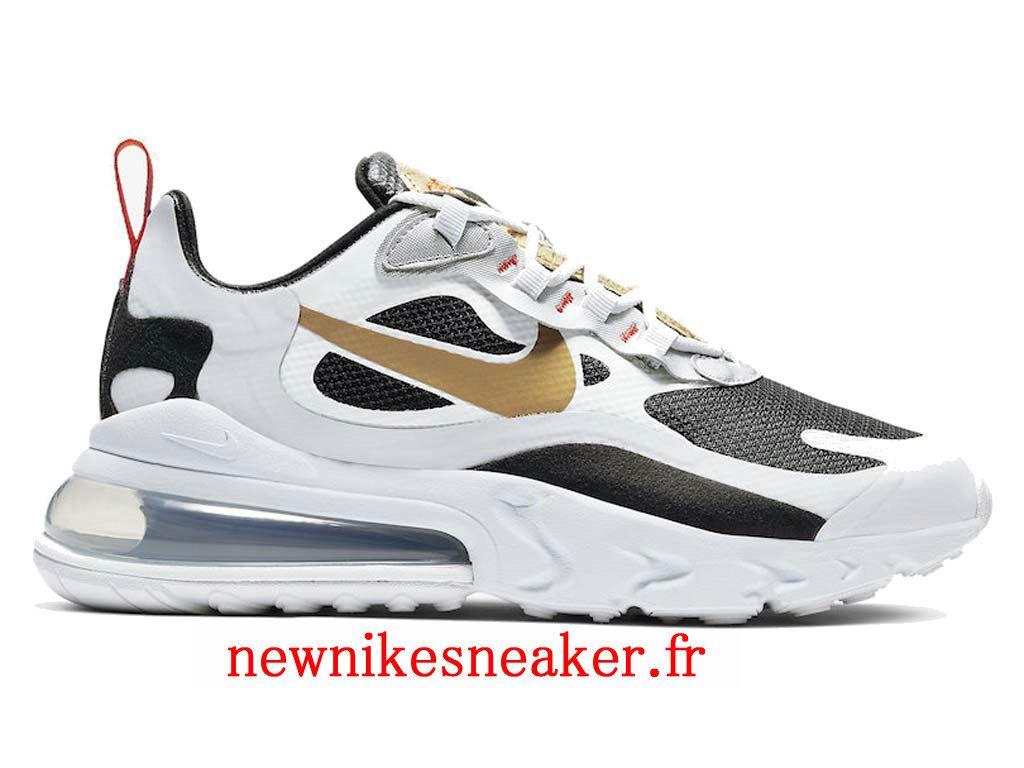 "Nike Air Max 270 React ""Swoosh or métallique"" CT3433 001"