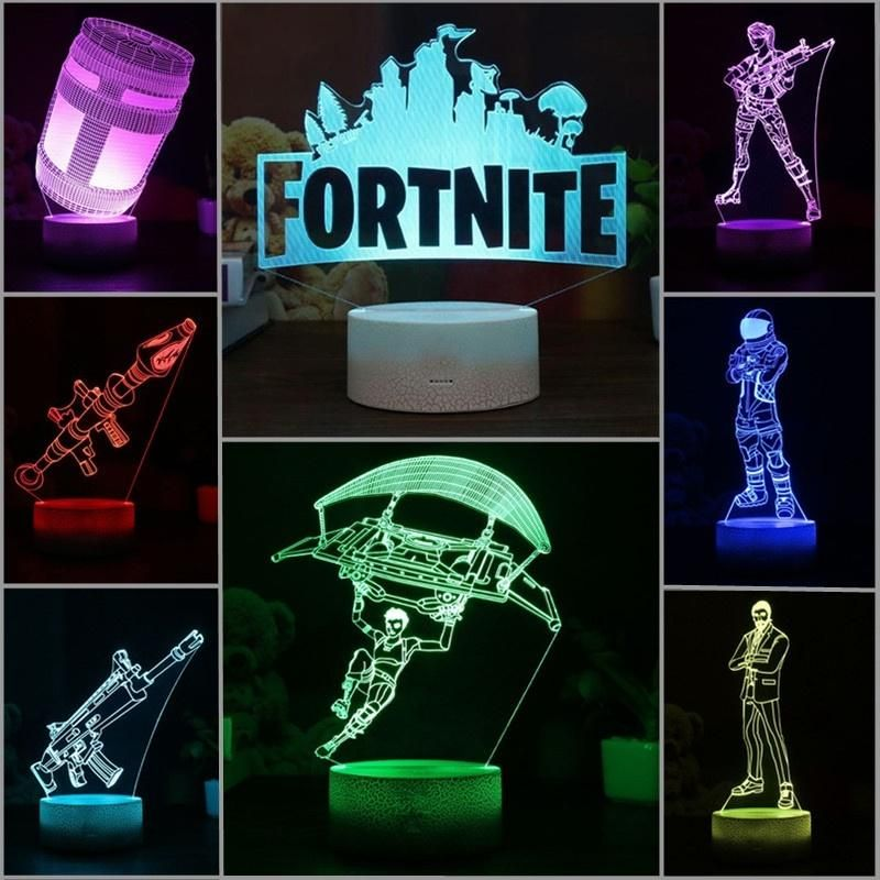 Fortnite Remote 3d Lamp Rgb Changeable Mood Lamp 7 Color Light Base Cool Night Light For Birthday Holiday Gift Mood Lamps 3d Lamp Night Light