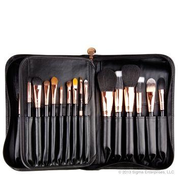 Sigma Extravaganza Copper Complete Kit 29 Piece Brush Set Makeup Brush Set Freelance Makeup Kit Makeup Brushes