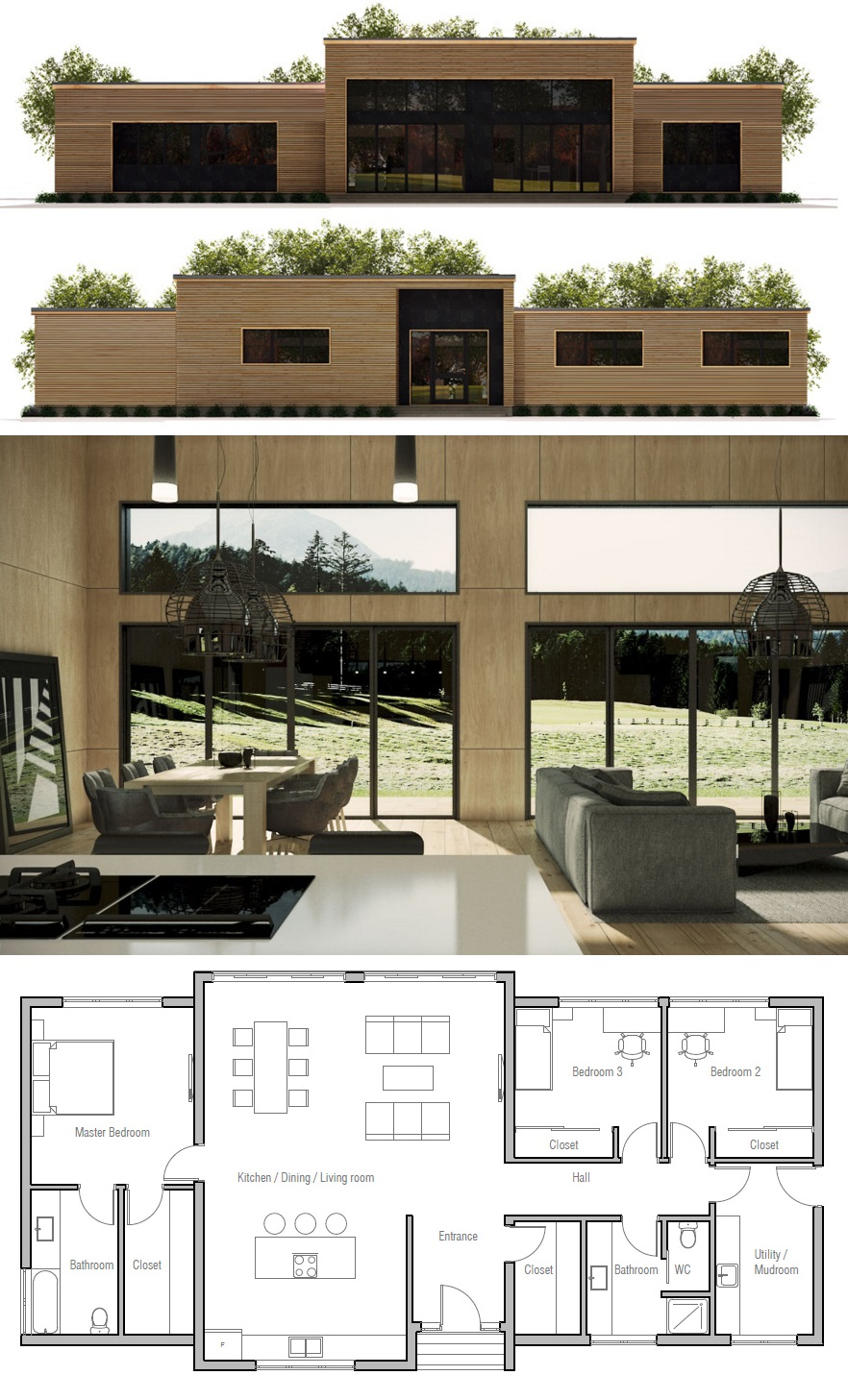 House Plan Ch402 Modern House Exterior House Plans Luxury House Plans