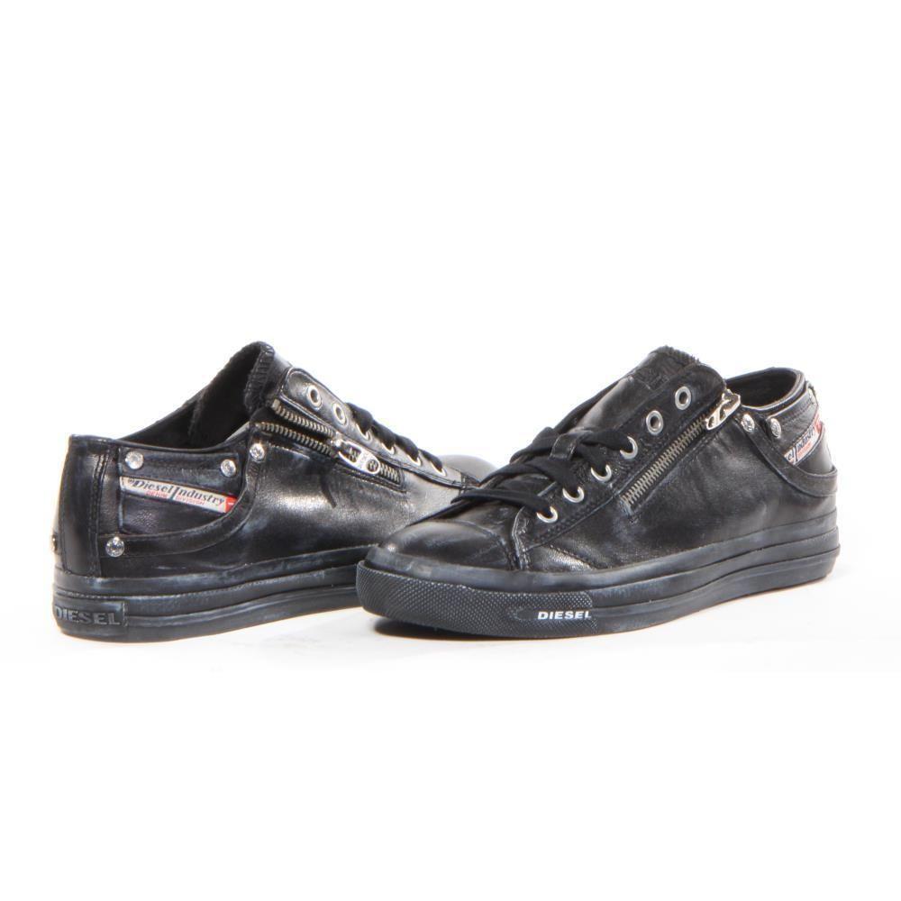 4bc59e4a9 Diesel Shoes Expo Zip Low Fashion Men Black New | eBay | Matte Black ...