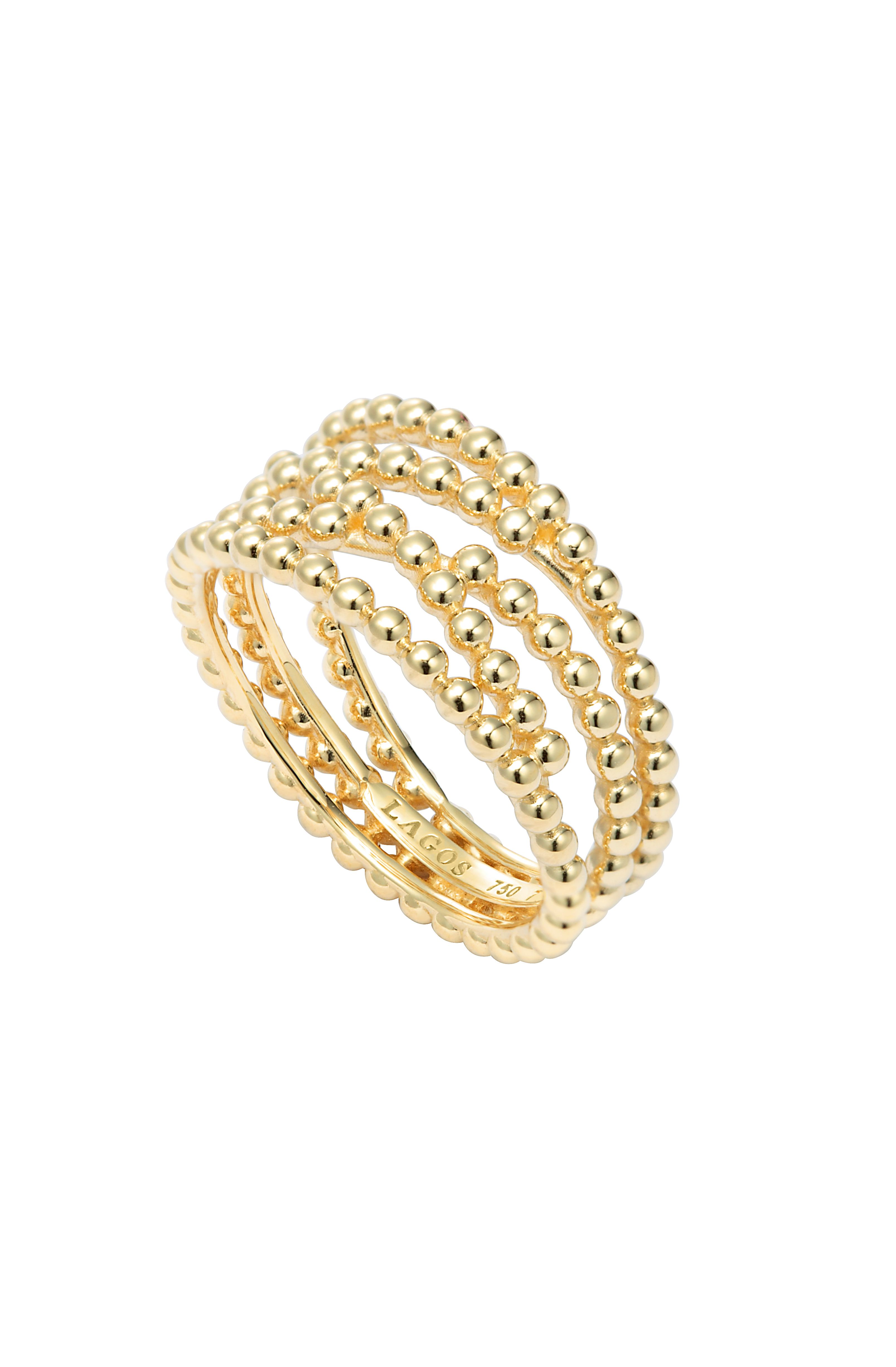 lagosjewelry Covet Gold Beaded Ring (With