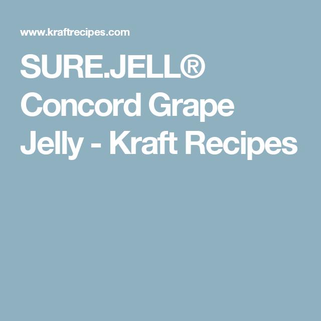 Sure Jell Concord Grape Jelly Kraft Recipes