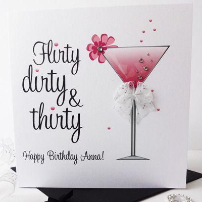 Flirty Dirty Thirty Birthday Card Party On Pinterest