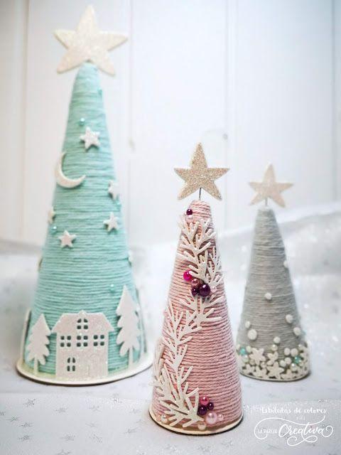 Conos navideños. - La pareja creativa