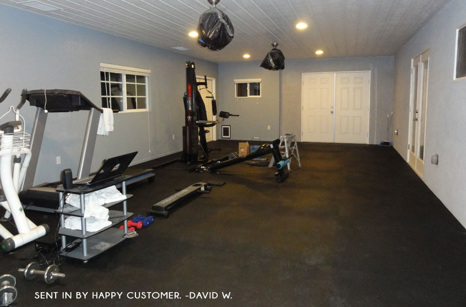 1/2 inch Rubber Gym Tiles Commercial Weight Room