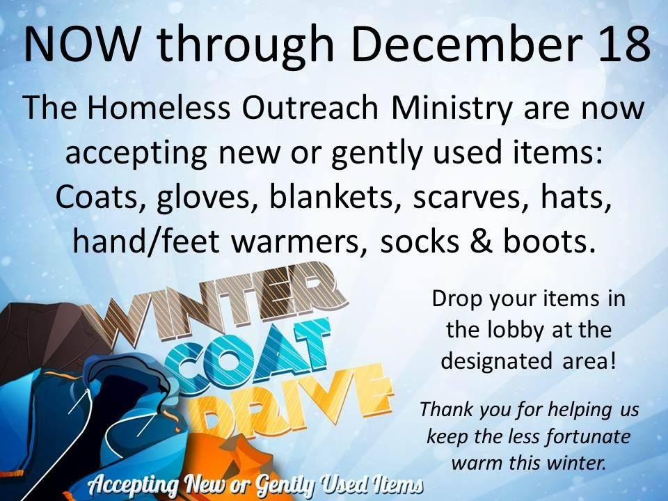 The Homeless Outreach Ministry Are Now Accepting An Warm Clothing And Accessories For The Winter Weather Please Dr Outreach Ministry Warm Outfits Foot Warmers
