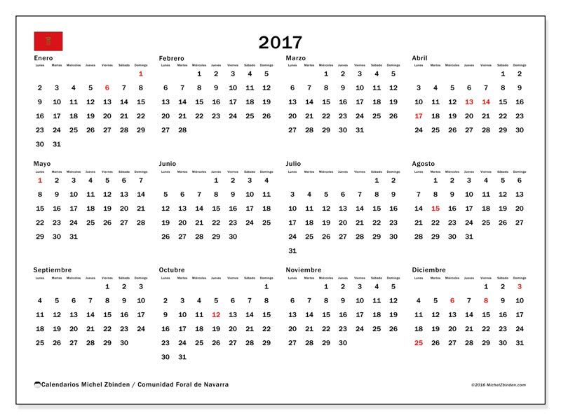 Gratis! Calendarios para 2017 para imprimir - España | calendario2017 ...