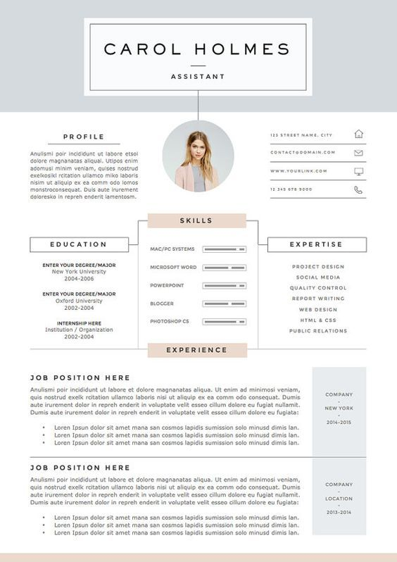 5 page Resume Template and Cover Letter References Template for