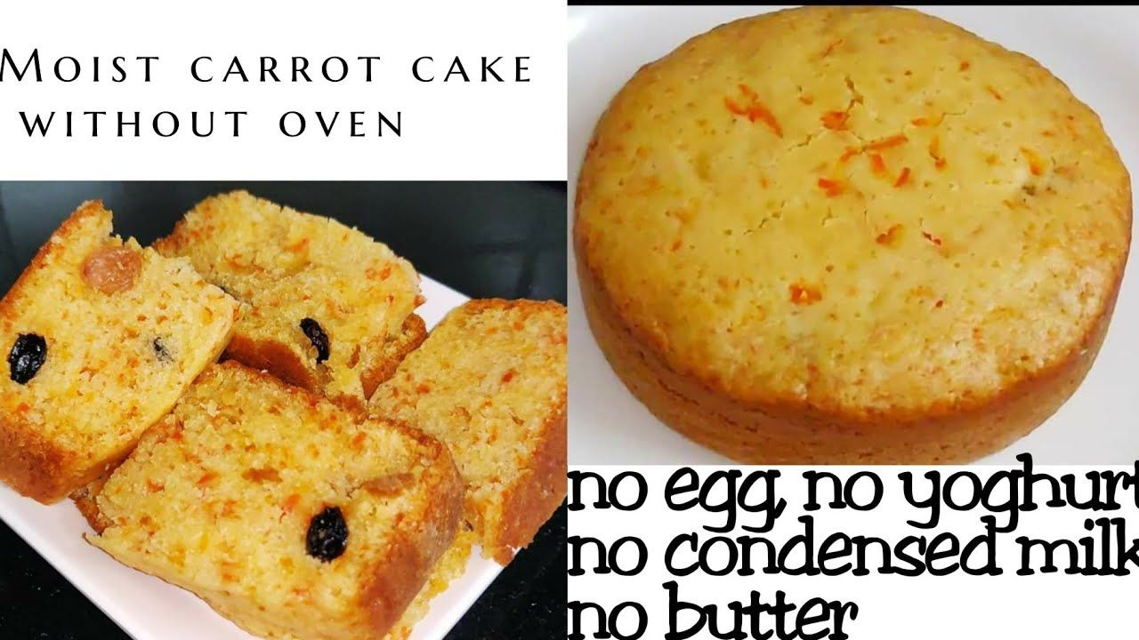 Moist Carrot Cake Without Oven No Egg No Yoghurt No Condensed Milk In 2020 Moist Carrot Cakes Carrot Cake Carrot Cake Recipe