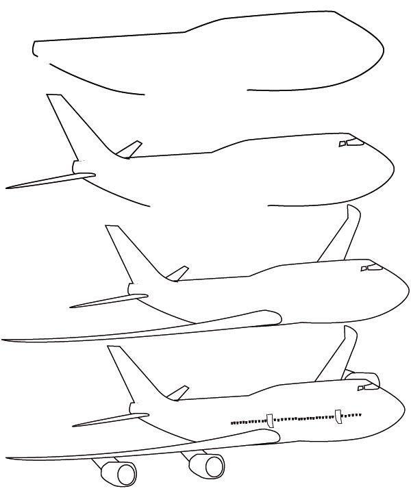 2013 11 En Flyver Easy Drawings Plane Drawing Airplane