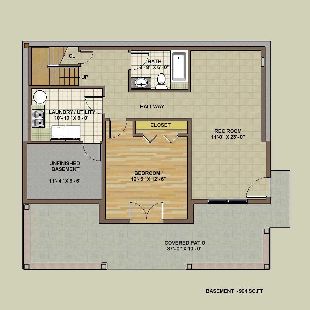 Walkout Version Basement Floor Plan Fundy Timber Frame Homes House Plans Basement Floor Plans