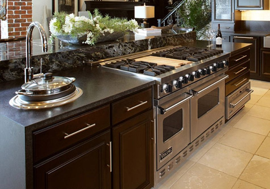 Kitchen Island With Oven And Stove Top ~ Kitchen island with stove and oven range