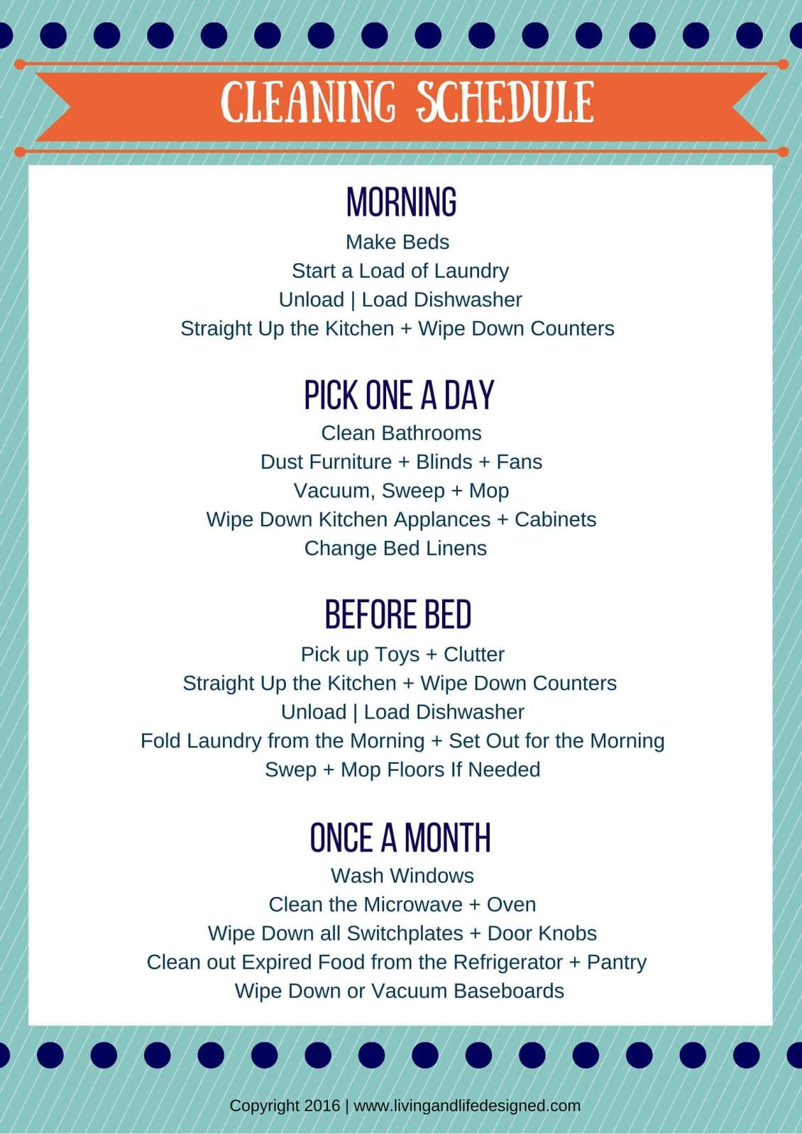 Daily 20 Minute Cleaning Schedule To Save A Ton Of Time