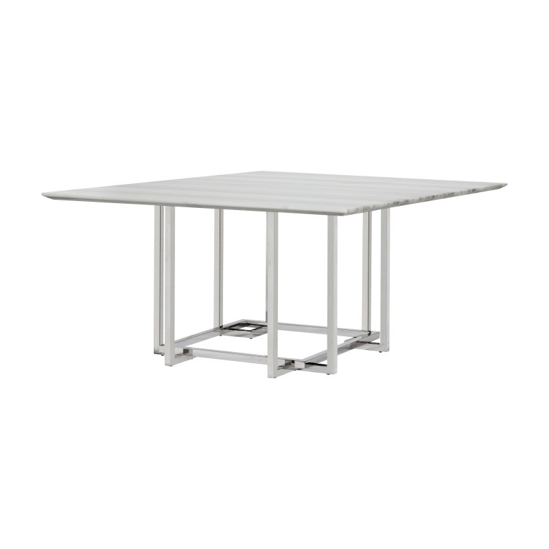 Lievo Elin Marble Square Dining Table Square Dining Tables
