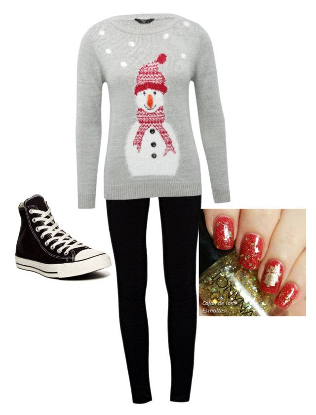 """Christmas joy"" by lauryn0629 ❤ liked on Polyvore featuring J Brand, M&Co and Converse"