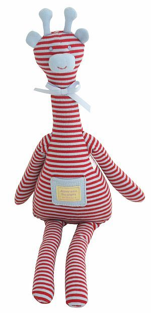 Georgie giraffe sitting toy    alimrose.com.au