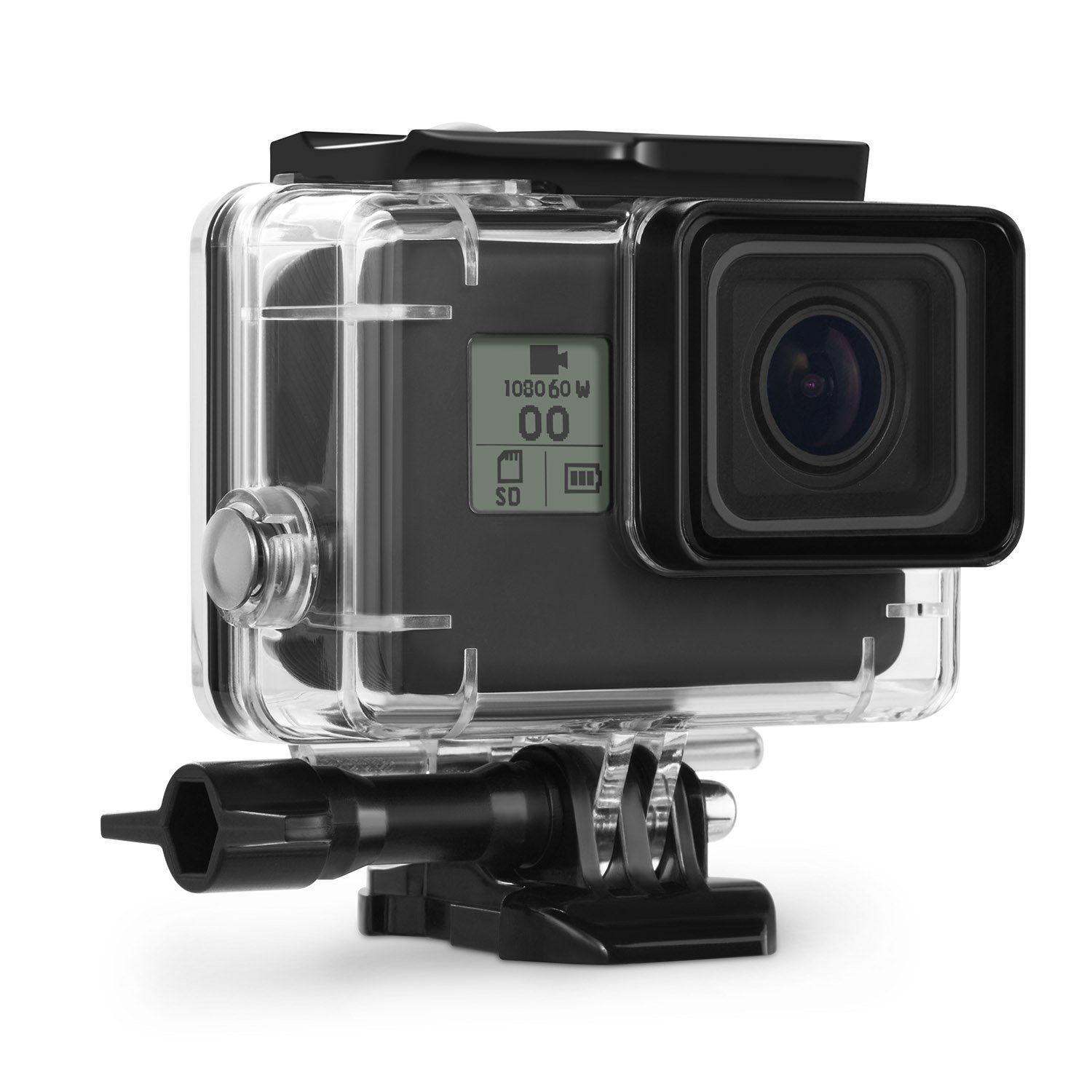 Kupton Housing Case For Gopro Hero 5 Waterproof Diving Hero5 Black Edition Go Pro Protective Shell 45m With Bracket