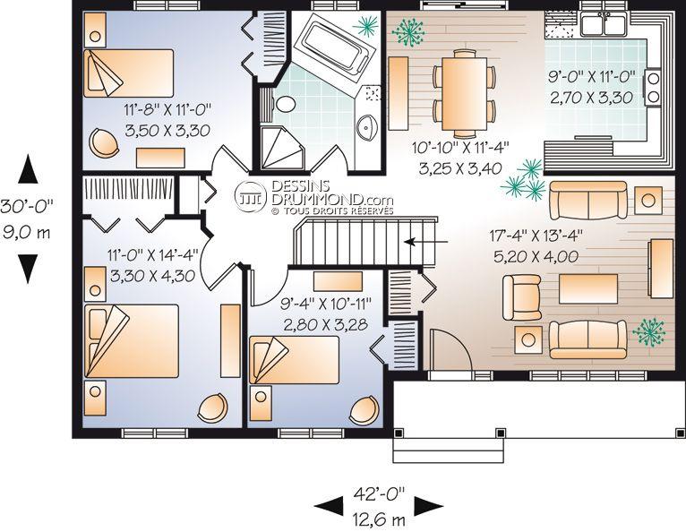 Small House Plan Maison Laprise Modifier Salle De Bain Plan De Maison Rectangulaire Plan Maison Et Maison Laprise