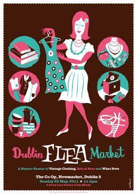 dublin flea market april and may posters design ideas prints