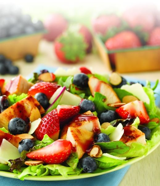 Yum! The Berry Almond Chicken Salad!