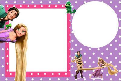 Tangled Rapunzel Free Printable Party Invitations Fondos de