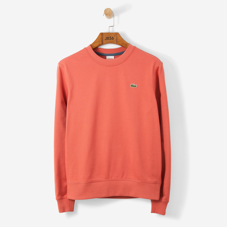 Lacoste Men/'s 100/% Cotton Croc Graphic Crew Neck Pull Over Sweatshirt