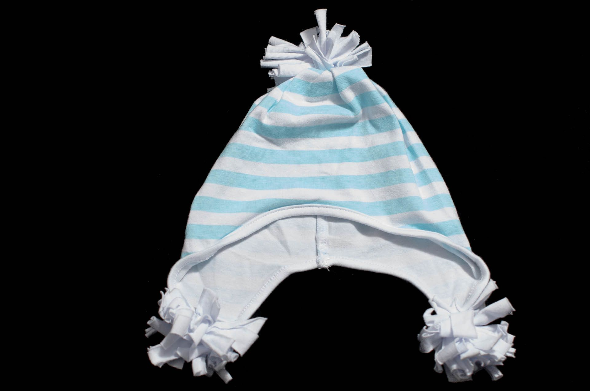 Baby Boy Hat (0-2yrs) Baby Blue Stripes from Sprout Tops