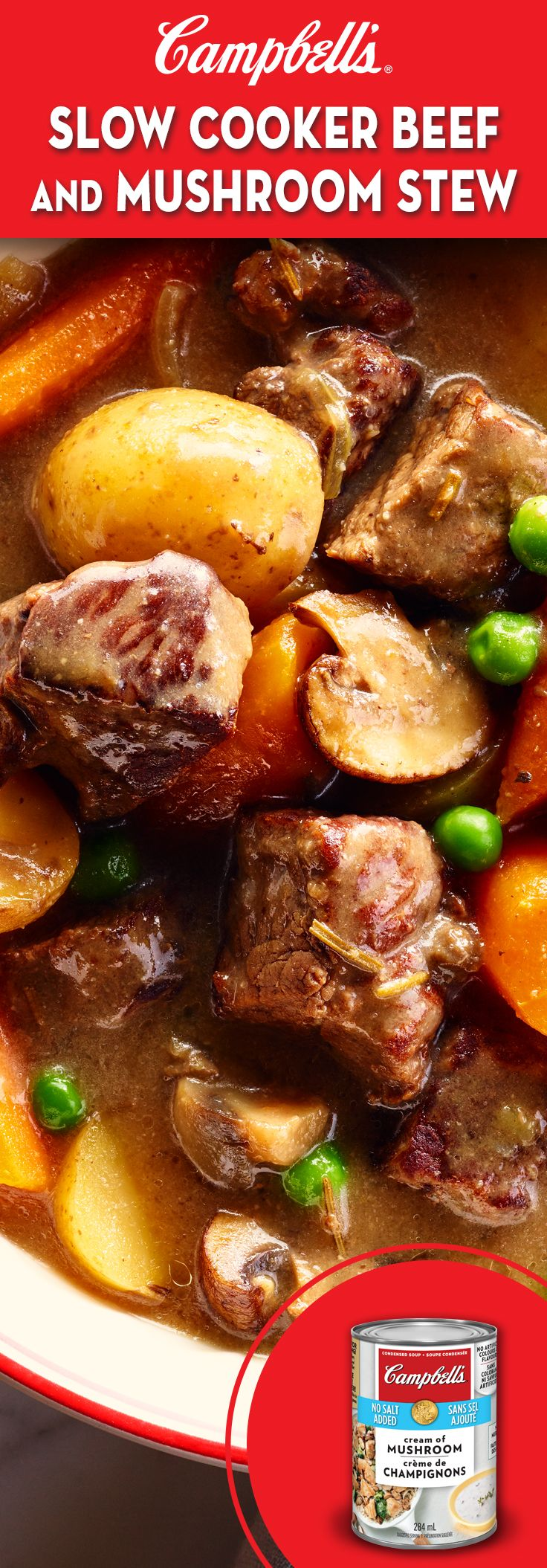 Photo of Slow Cooker Beef and Mushroom Stew