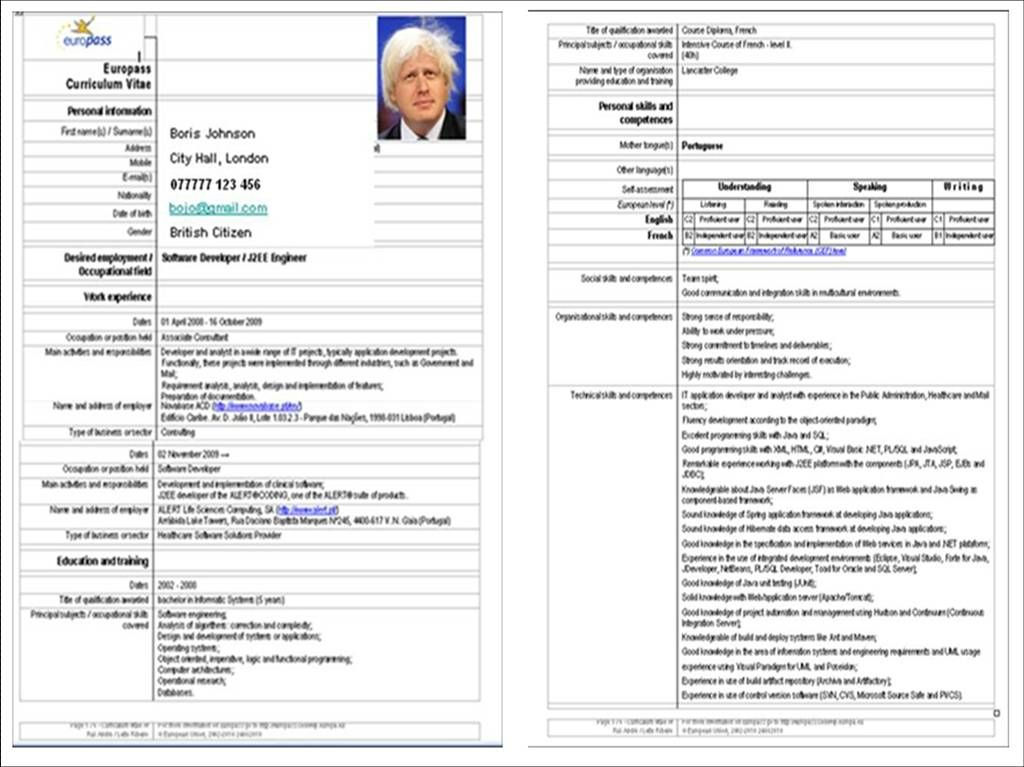 Why The Europass Is Bad For Your Career Cv Template Word Cv Template Cv Design Template