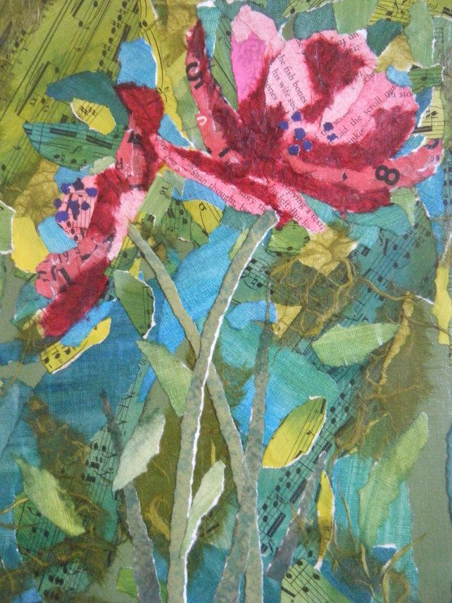 Red flower collage £45.00