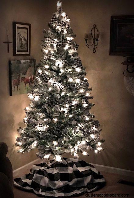Inexpensive Christmas Tree Skirt - Buffalo Plaid ...